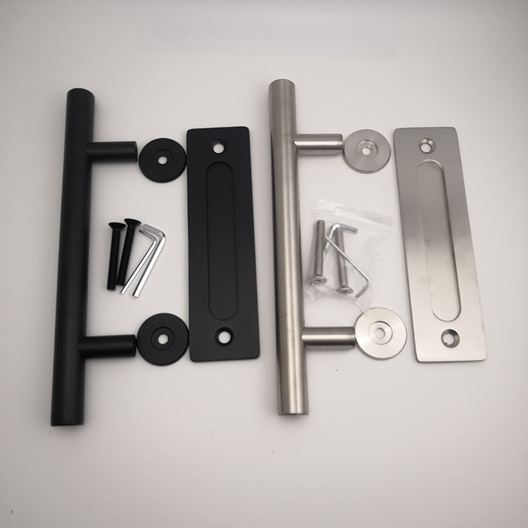 stainless steel Barn Door Hardware Glass Door Sliding Track Set