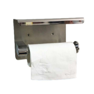 black stainless steel 304 Toilet Paper Holder 3M free on wall toilet paper holder