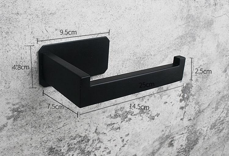 Black Stainless Steel 304 Toilet Paper Holder 3m Best