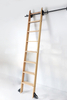 Black Steel Vintage rolling Library ladders Sliding Ladder Hardware Kit DIY Wood Ladder