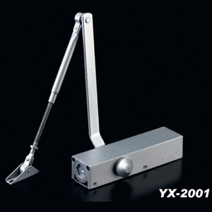 Heavy Duty 45-65kg Aluminum Alloy Wooden Door Fire Rated Door Closer Yx-2001
