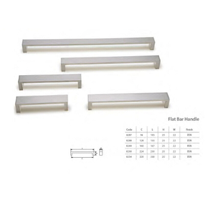 Probrico Square Kitchen Cupboard Handles And Pulls 5 inch Holes Centers Stainless Steel Cabinet Drawer Handles