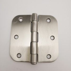 3.5InX3.5InX2mm. furniture hinges South America Radius Satin Nickel steel/iron round conner Door Hinge