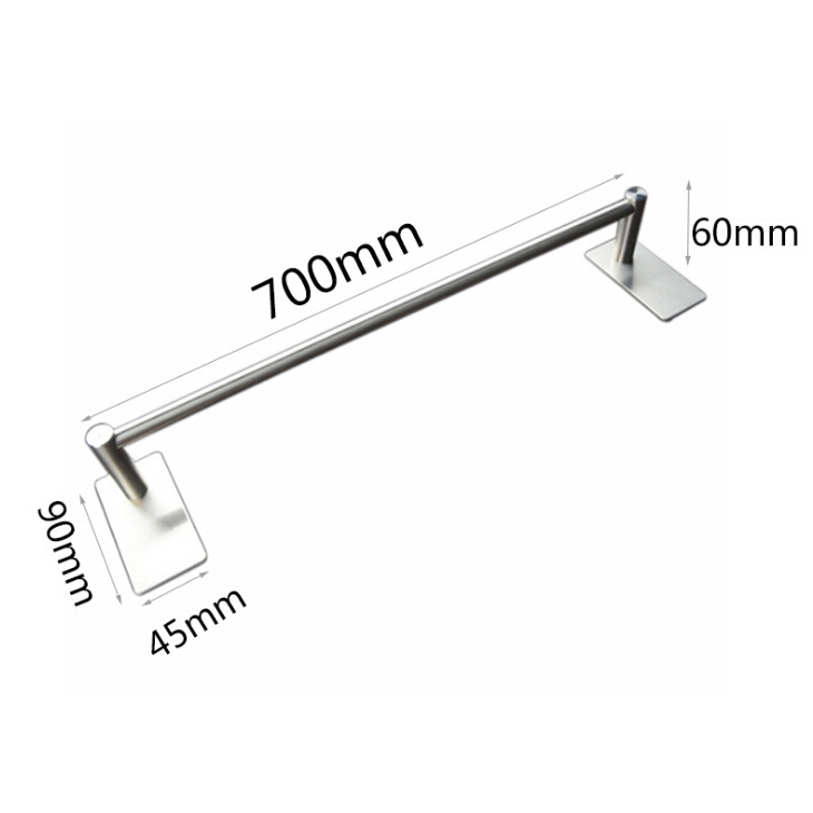 3M Self Adhesive Towel Rod 70CM Towel Bar Stainless Steel, Stick on Wall Bath