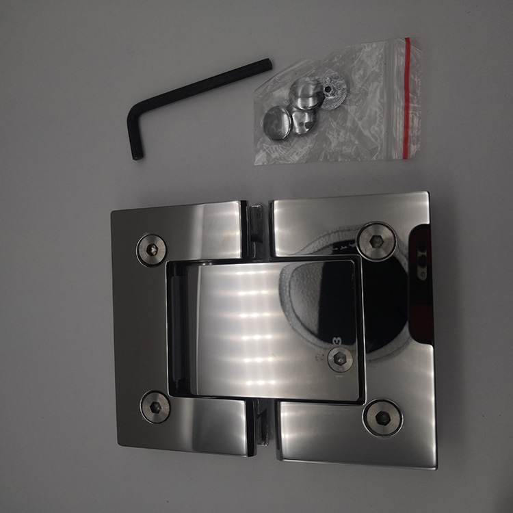 stainless steel 180 degree double side hydraulic solf closed frameless shower door hinge adjustment