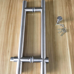 Stainless Steel Glass Door Pull Handle Furniture Lock for Glass Door