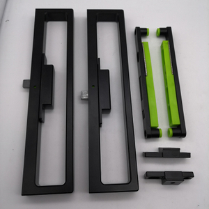 Extruded Aluminum Black Sliding Patio Door with Clamp Type Latch