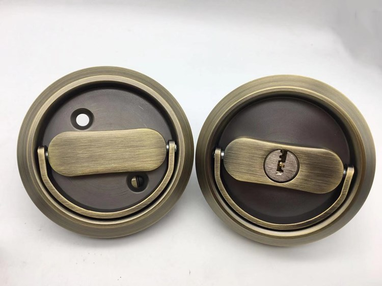 AB stainless steel Wooden Sliding Hook Door Lock Used in Sliding Door/Sliding Door Lock Concealed Flush Mount Handle Wooden Pull Handle
