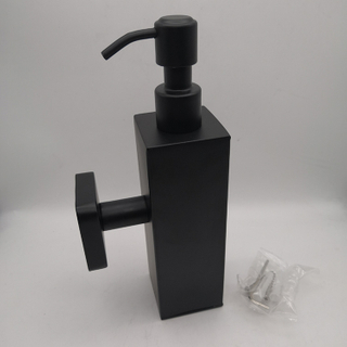 black square design SS 304 stainless steel hand liquid soap dispenser