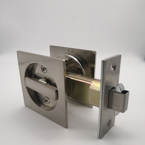 zinc alloy SN accurate sliding door lock without keyword BK bathroom door lock