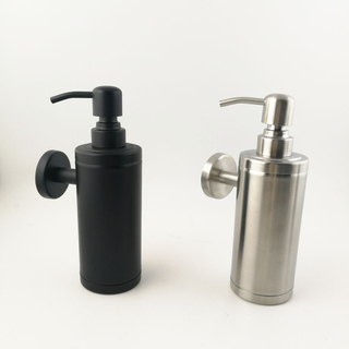 High quality Silver Stainless Steel Liquid Soap Dispenser / Hand Sanitizer Soap Dispenser / Shower gel bottle