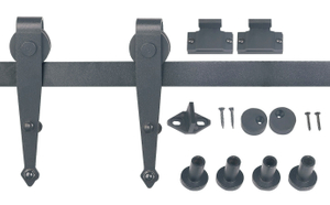 Top Mount Barn Door Furniture Hardware Kit Mini barn door hardware kits