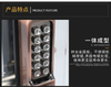 14-Button Keypad Code combination mechanical door lock with handle for wooden door