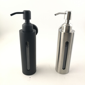 Professional factory direct kitchen sink stainless steel liquid soap dispenser with plastic bottle