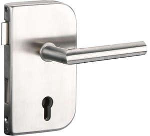 Sliding Glass Door SUS304 Satin And Mirror Glass Door Lock with Lever Handles