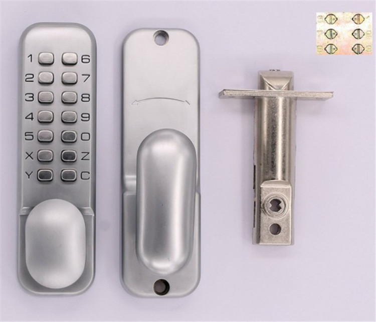 Combination door lock mechanical dimple lock