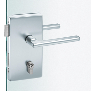 Euopean Glass Door Lock,Square Edge ,Rectangular lockset plate with cover plates with heavy-duty glass door lock(DIN 18251,analogous to class 4)